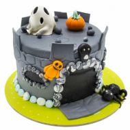 کیک هالووین قلعه اسرار آمیز