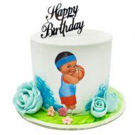 کیک بسکتبالیست کوچک