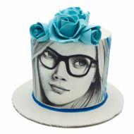 کیک دختر آبی