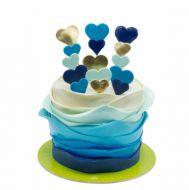 کیک قلب آبی
