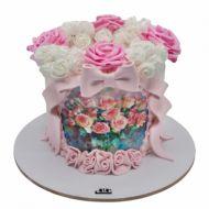 کیک گل رز فانتزی