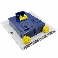 کیک پیراهن مردونه آبی