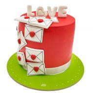 کیک نامه های ولنتاین