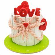 کیک گره عاشقانه