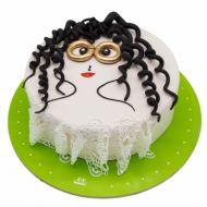 کیک دختر مو فرفری