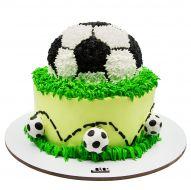 کیک توپ فوتبال خامه ای