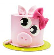 کیک  خوک صورتی