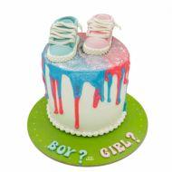 کیک کفش های تعیین جنسیت
