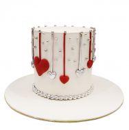 کیک قلب آویز