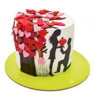 کیک درخت عشق
