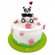 کیک پاندا و گل