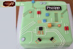 کیک تولد پسرانه مدار الکترونیک