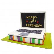 کیک لپ تاپ رنگی