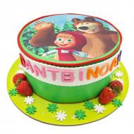 کیک تولد ماشا و میشا تصویری