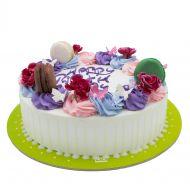 کیک خامه ای چهل گل