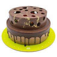 کیک شکلاتی چاله های توت فرنگی