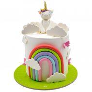 کیک اسب تک شاخ رنگین کمانی