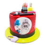 کیک لوازم آرایش دخترانه