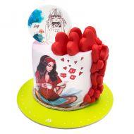 کیک عشق دخترانه