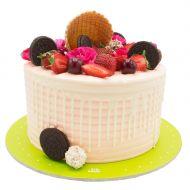 کیک توت فرنگی و نگرو