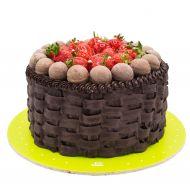 کیک سبد توت فرنگی