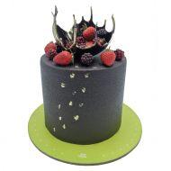 کیک شکلاتی تمشک و توت فرنگی