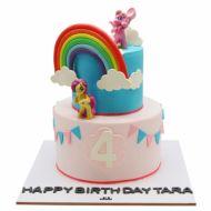 کیک یونیکو و رنگین کمان