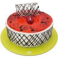 کیک موس توت فرنگی