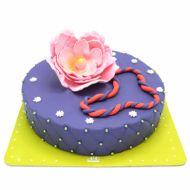 کیک فوندانت نیلوفر آبی