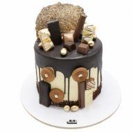 کیک فیگور خامه ای شکلات طلایی