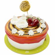کیک گل خامه ای