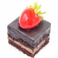 چاکلت برونی با توتفرنگی