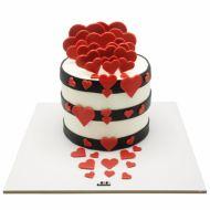 کیک قلب ها