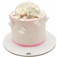 کیک گل و پروانه