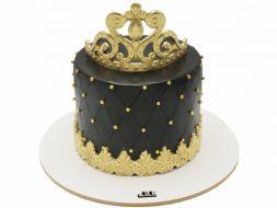 کیک تاج طلایی