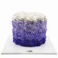 کیک رز بنفش