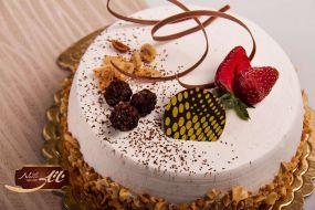 کیک بستنی تمشک