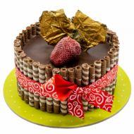 کیک بستنی شکلات طلایی