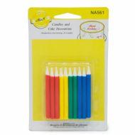 شمع مدادی کوتاه رنگارنگ
