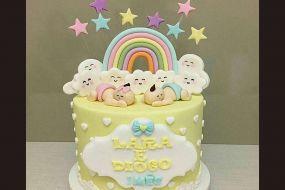 کیک تولد دخترانه نوزاد 3