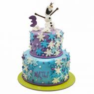 کیک اولاف در برف