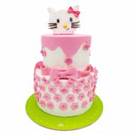 کیک تولد دخترانه کیتی کارتونی