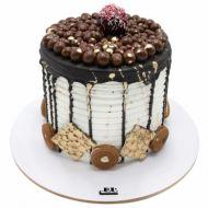 کیک خامه ای بیسکویت شکلاتی