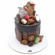 کیک خامه ای شکلات ماکارون