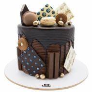 کیک فیگور خامه ای ماکارون بیسکویت