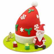 کیک کلاه بابانوئل